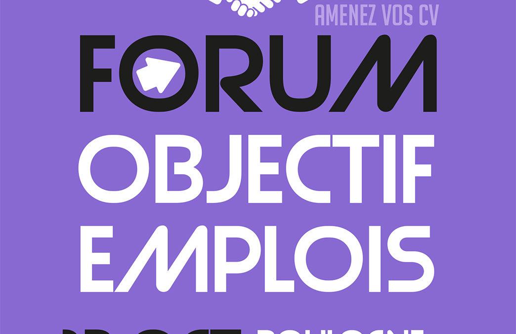 Forum OBJECTIF EMPLOIS – 13 octobre 2021